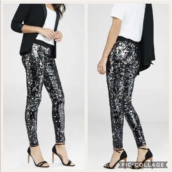 f65b5464c2a02 Express Pants | Sequin Leggings | Poshmark